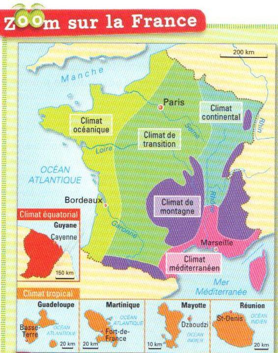 Zones climatiques en France