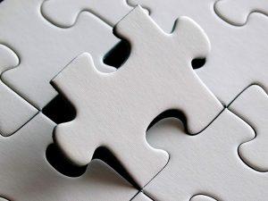 Les pièces de ce puzzle tiennent entre elles grâce à un astucieux système d'emboitage