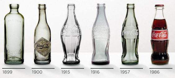Comme tous les objets technique, la bouteille de Coca Cola a vu son design évoluer au fil des époques.