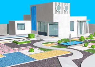 Villa Arpel - Rendu 3D